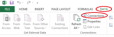 how to add refresh button in excel 2013