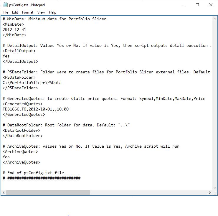 Config File For External Data Management Scripts Portfolio Slicer