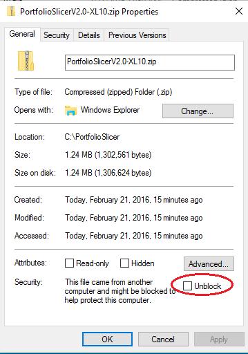 unblock excel file